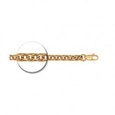 Браслет из серебра с позолотой, алмазная грань, арт. 985140604