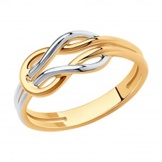 Кольцо из серебра с позолотой без вставки арт. 93010832