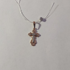 Крестик из серебра с позолотой без вставки арт. 10003.6