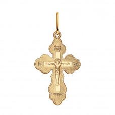 Крестик из серебра с позолотой без вставки арт. 93120008