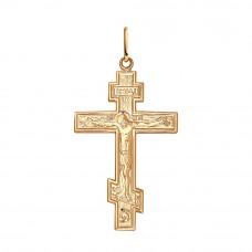 Крестик из серебра с позолотой без вставки арт. 93120023
