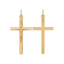 Крестик из серебра с позолотой без вставки арт. 93120034