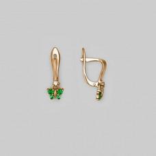 Серьги детские из золота с фианитами арт.02-3414-04-404-1110-03