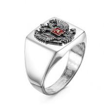 Печатка мужская из серебра без вставки с эмалью арт. 2306374