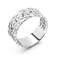 Печатка мужская из серебра с родированием и фианитами арт. 310083-216ч