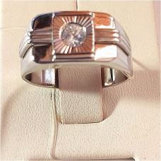 Печатка из серебра с фианитами арт. 60613.5