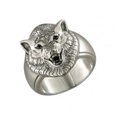 Печатка мужская из серебра с фианитами арт. 95010022