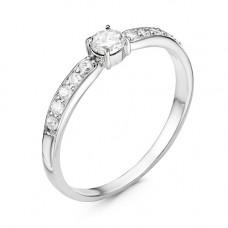 Кольцо из серебра с фианитами арт. 23810018Д
