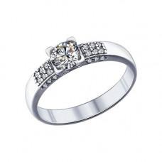 Кольцо из серебра с фианитами арт. 89010019