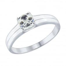 Кольцо из серебра с фианитом арт. 89010067