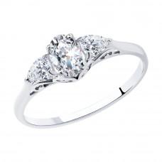 Кольцо из серебра с фианитами арт. 94012121