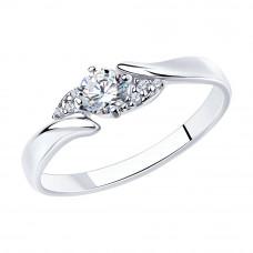 Кольцо из серебра с фианитами арт. 94012237