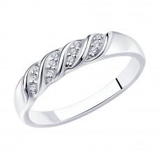 Кольцо из серебра с фианитами арт. 94012324