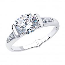 Кольцо из серебра с фианитами арт. 94012674