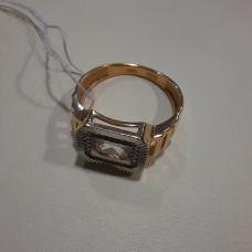 Печатка мужская из золота с фианитом арт.01-2235-1-22