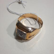 Печатка мужская из золота с фианитом арт.70160700