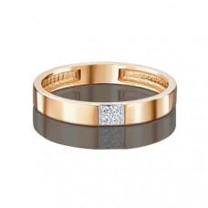 Кольцо обручальное из золота с фианитами арт.01-1761-03