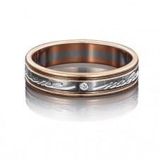 Кольцо обручальное из золота с фианитами арт.01-4038-00-401-1111-21