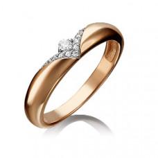 Кольцо обручальное из золота с фианитами арт.101-4719-00-401-1110-03