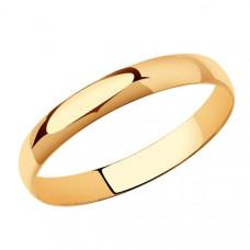 Кольцо обручальное из золота арт.110030