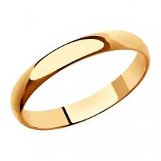 Кольцо обручальное из золота арт.110031
