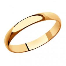 Кольцо обручальное из золота арт.110047