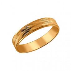 Кольцо обручальное из золота арт.110086