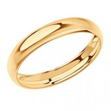 Кольцо обручальное из золота арт.110187