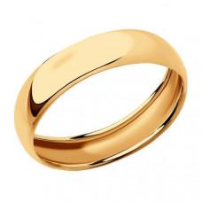 Кольцо обручальное из золота арт.110188