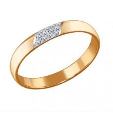 Кольцо из золота с бриллиантами арт.1010433