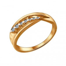 Кольцо из золота с бриллиантами арт.1010675
