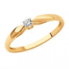 Кольцо из золота с бриллиантом арт.1011362