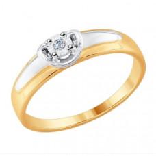 Кольцо из золота с бриллиантом арт.1011620