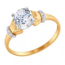 Кольцо из золота с фианитами арт.81010322