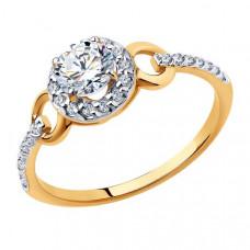 Кольцо из золота с фианитами арт.81010463