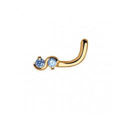 Пирсинг из золота с фианитом арт.060109