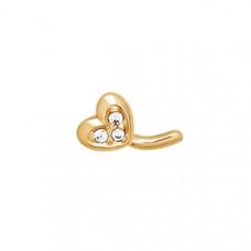 Пирсинг из золота с фианитом арт.060175