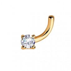 Пирсинг из золота с фианитом арт.060202