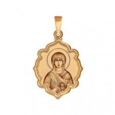 Иконка Святая мученица Анастасия из золота арт.102996