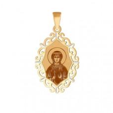 Иконка Святая мученица Вероника из золота арт.102373