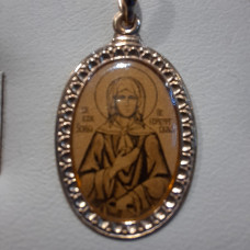 Иконка Святая блаженная Ксения из золота арт.100968