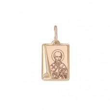 Иконка Святитель архиепископ Николай Чудотворец из золота арт.103999