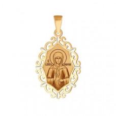 Иконка Святая блаженная Матрона Московская из золота арт.102388