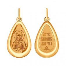 Иконка Святая блаженная Матрона Московская из золота арт.104159