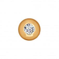 Подвеска из золота с фианитом арт. 034772