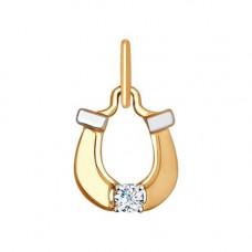 Подвеска из золота с фианитом арт. 035178