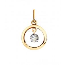 Подвеска из золота с фианитом арт. 51-130-01109-2