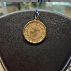 Подвеска «Стрелец» из золота без вставки арт.100547