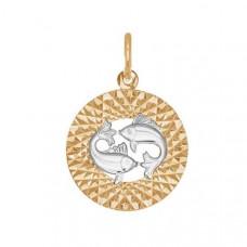 Подвеска «Рыбы» из золота без вставки арт.031388