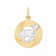 Подвеска «Овен» из золота без вставки арт.0311365